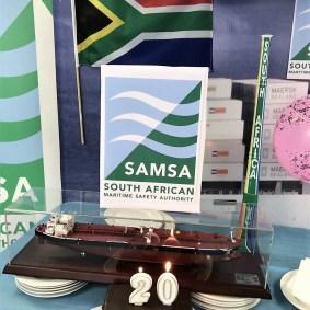 SAMSA 20th - SWR - logo, cake, flag, vuvuzela, ship, balloons