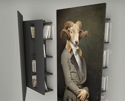 quadro-libreria Bel-Amie della collezione .Les Dandys di ibride