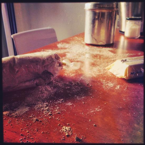 l'attacco di #Gecchio al sacchetto della farina di castagne | ©foto Sandra Longinotti