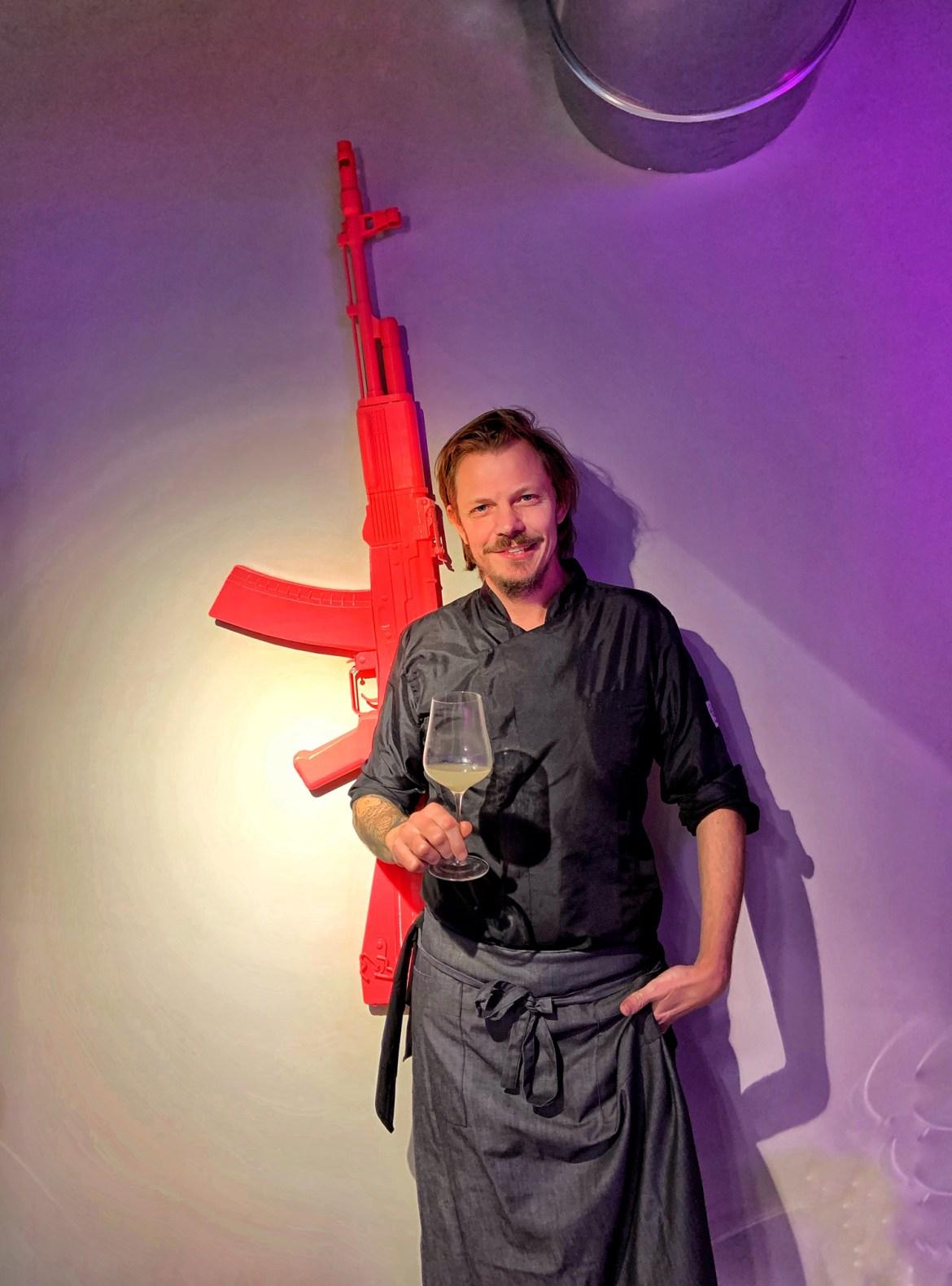 Andrea Marconetti, lo chef del Killer a Milano | ©foto Sandra Longinotti