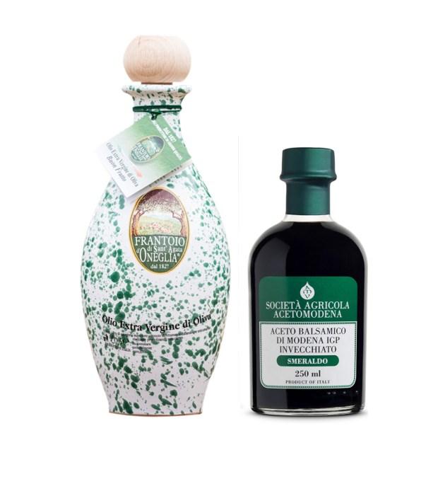Olio e Aceto: Frantoio Sant'Agata d'Oneglia + Acetomodena