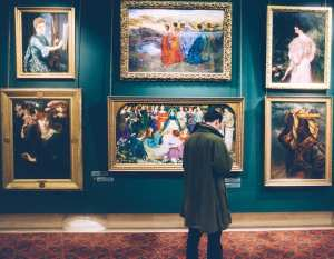 A gallery at an art museum.