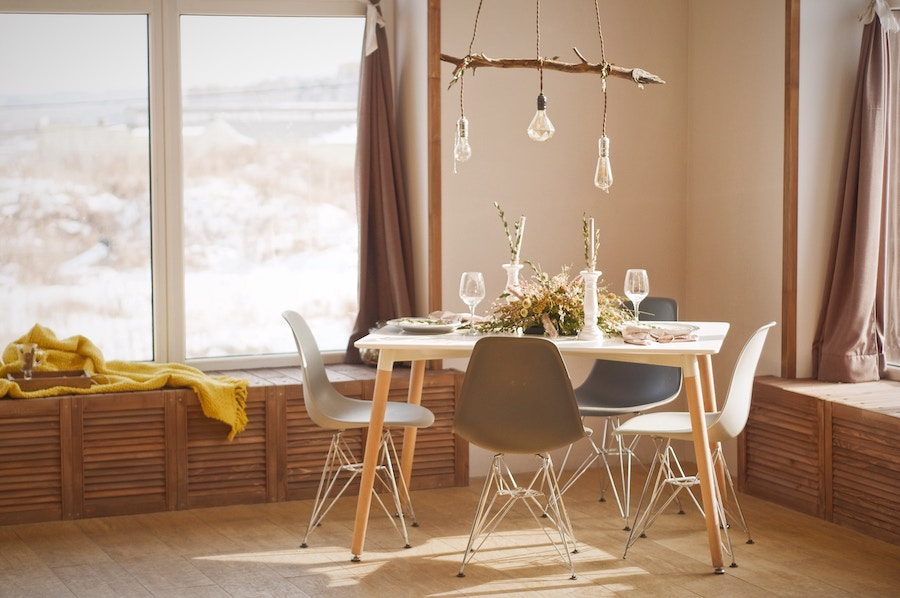 Dining room with furniture from Locally-Owned Sarasota Businesses