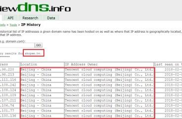 蝦皮是不是中資 ? 台灣蝦皮一度將 DNS A 記錄指向大陸騰訊雲端機房??