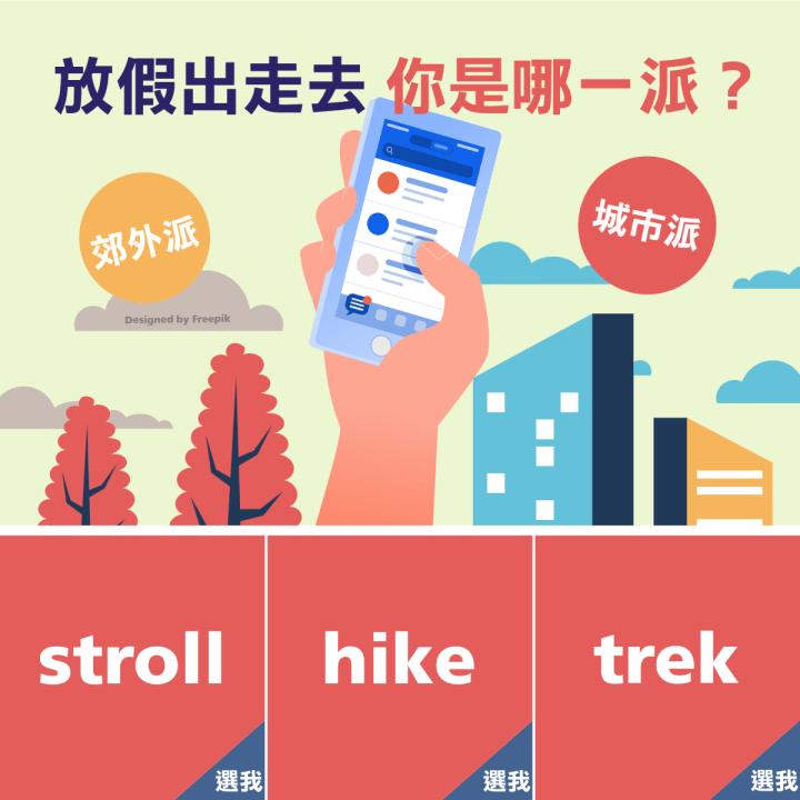 1分鐘學外語 | 放假出去走走~你知道這3種出遊的英文用法嗎?