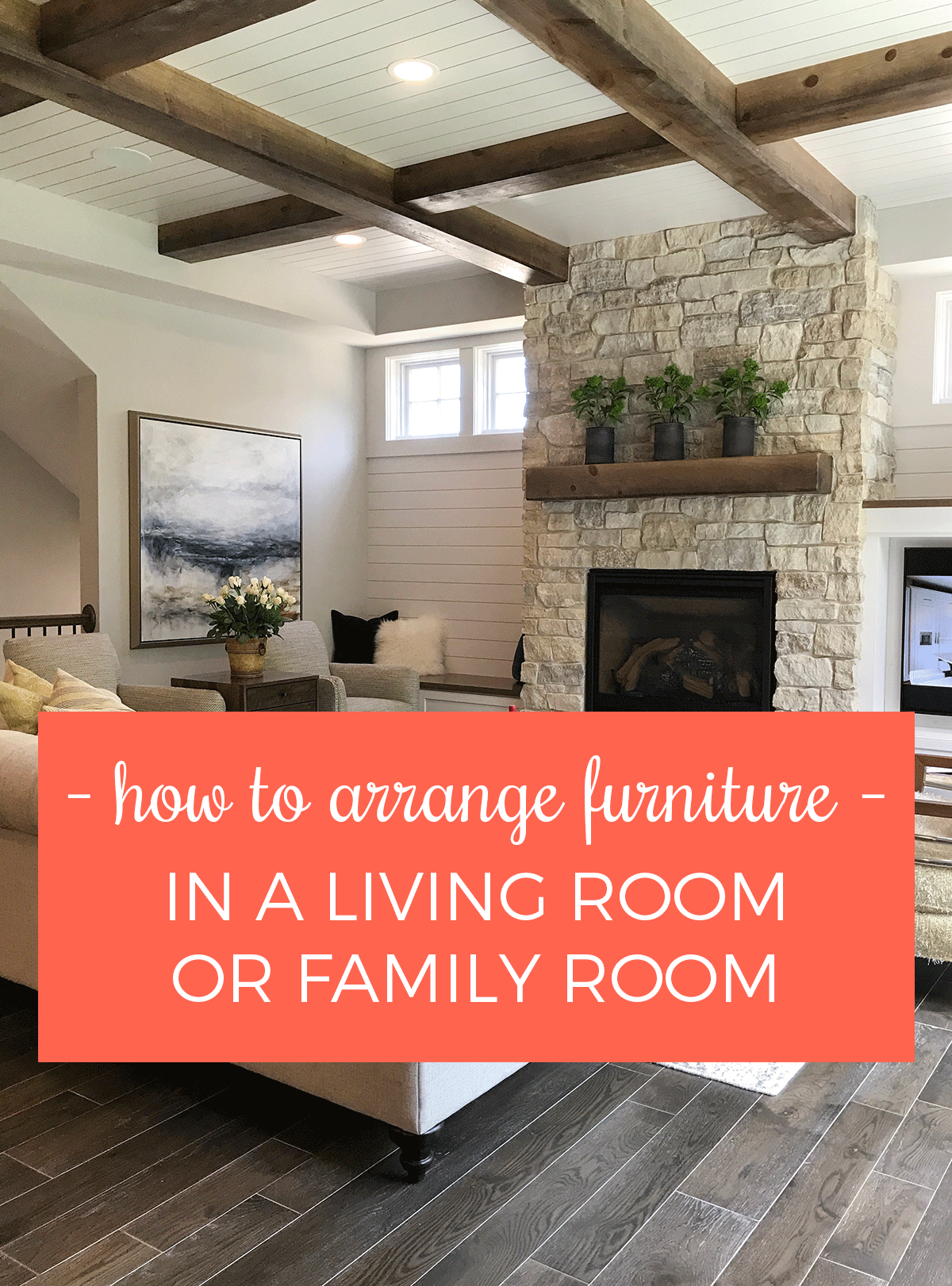 9 tips for arranging furniture in a living room or family for Small living room arrangements with tv and fireplace