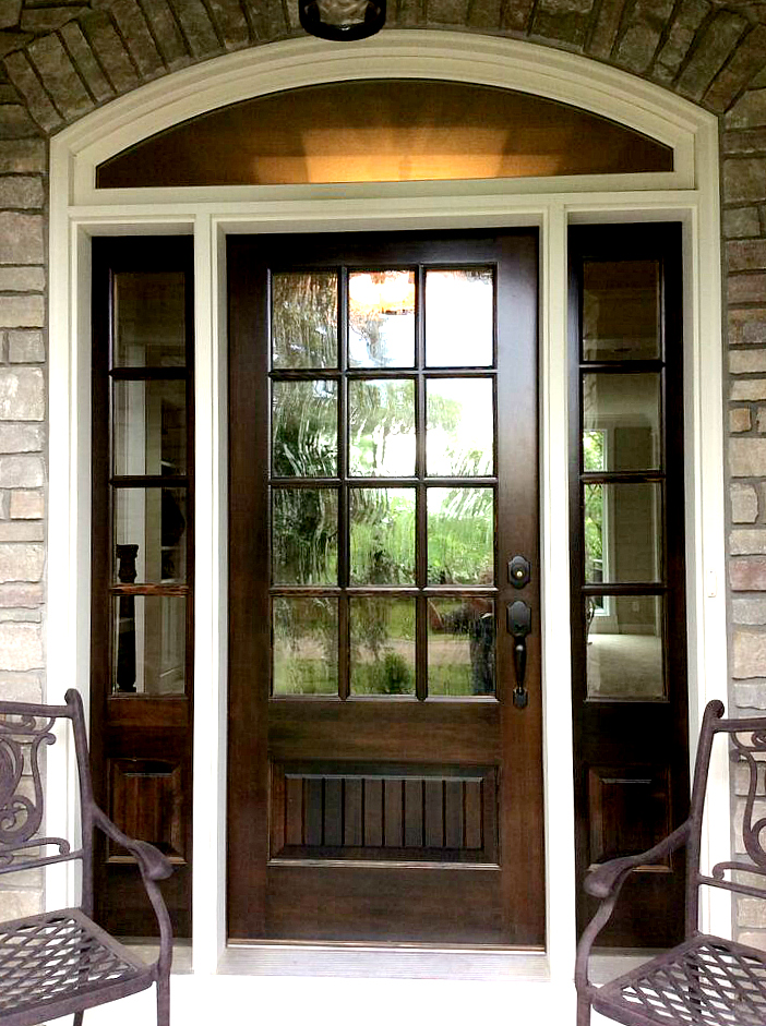 Twin Cities Artisan Home Tour - Beautiful stained wood front door with arched window
