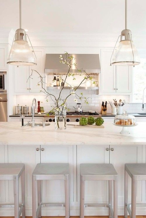 Decorating with White - White is trending on walls and cabinets