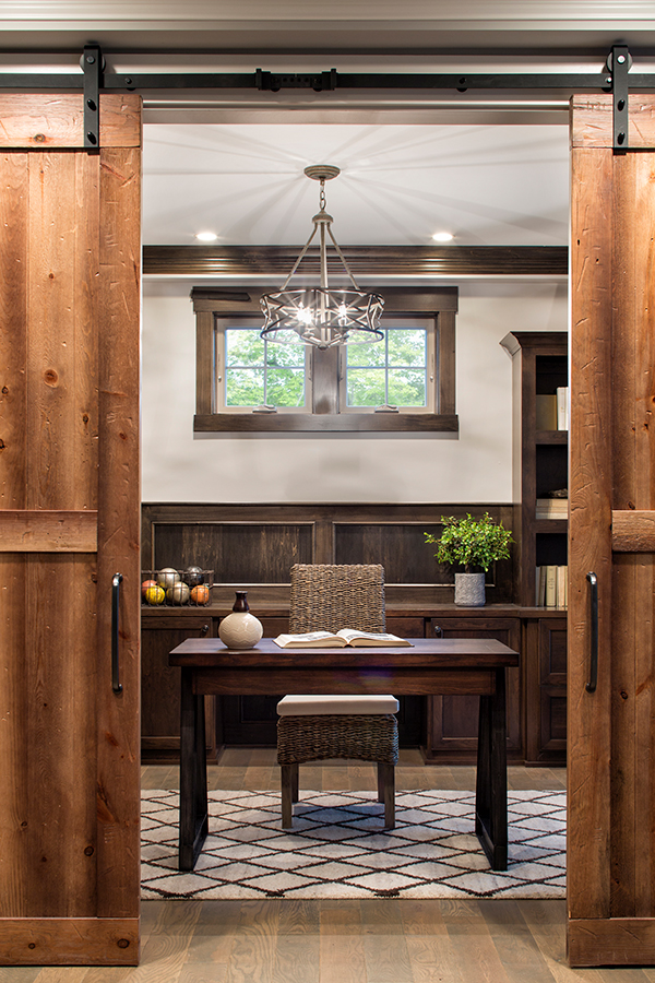 Beautiful Rustic Sliding Barn Doors Going Into This Home Office