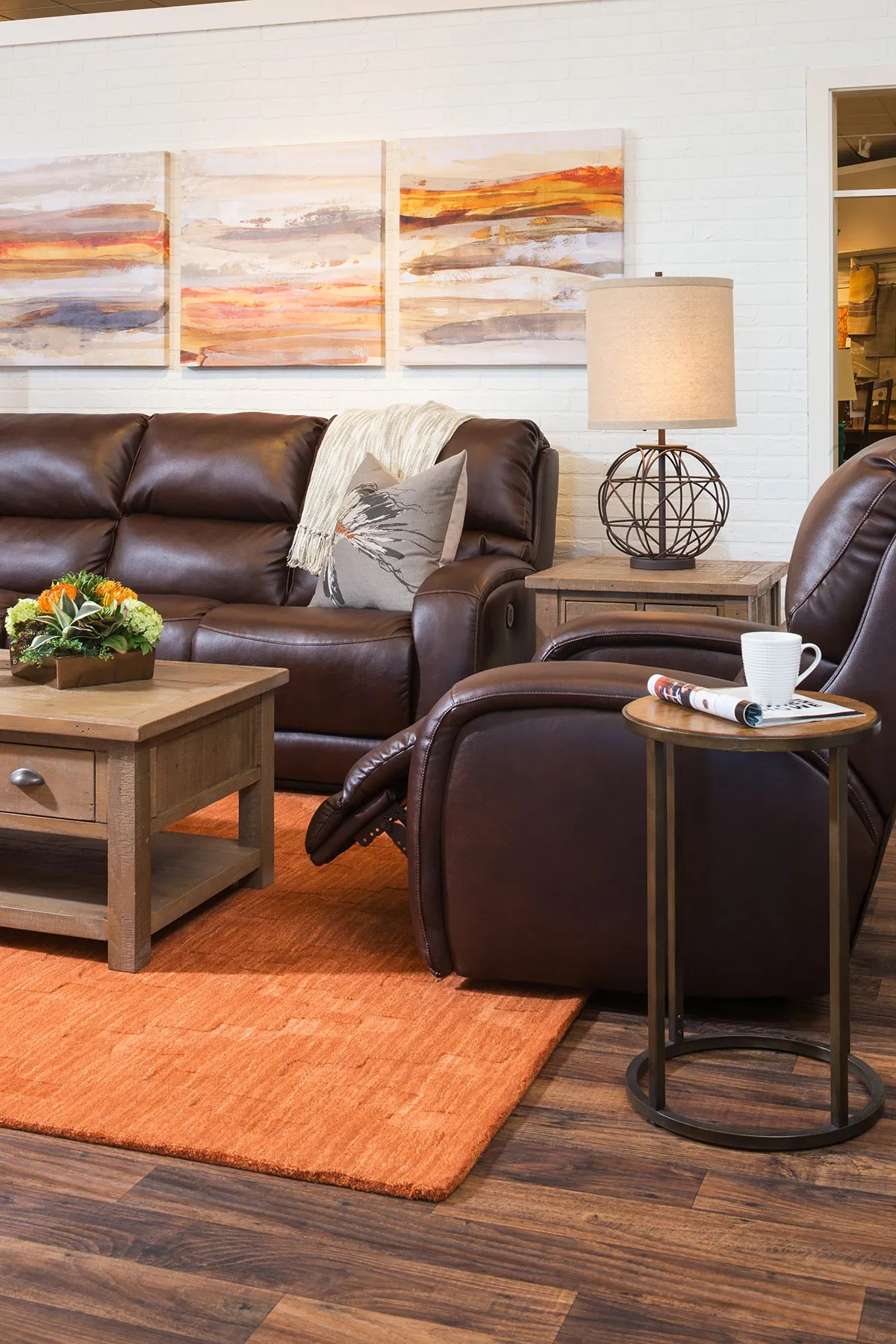 Decorating With Brown Leather Furniture Tips For A Lighter Brighter Look Schneiderman S The Blog Design And Decorating