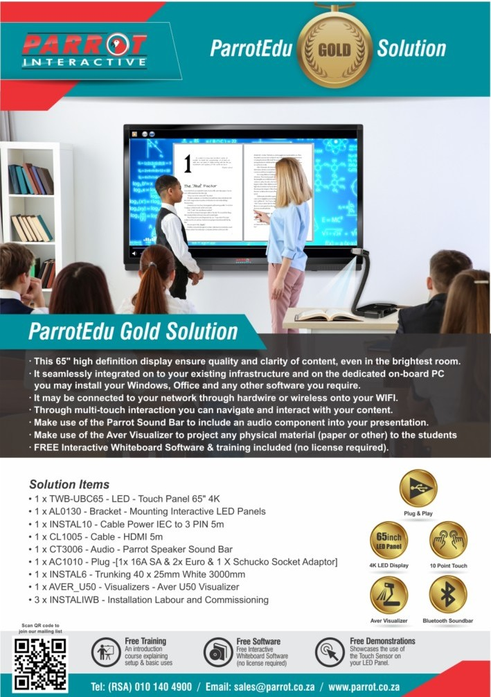 ParrotEdu - Gold Solution 2018