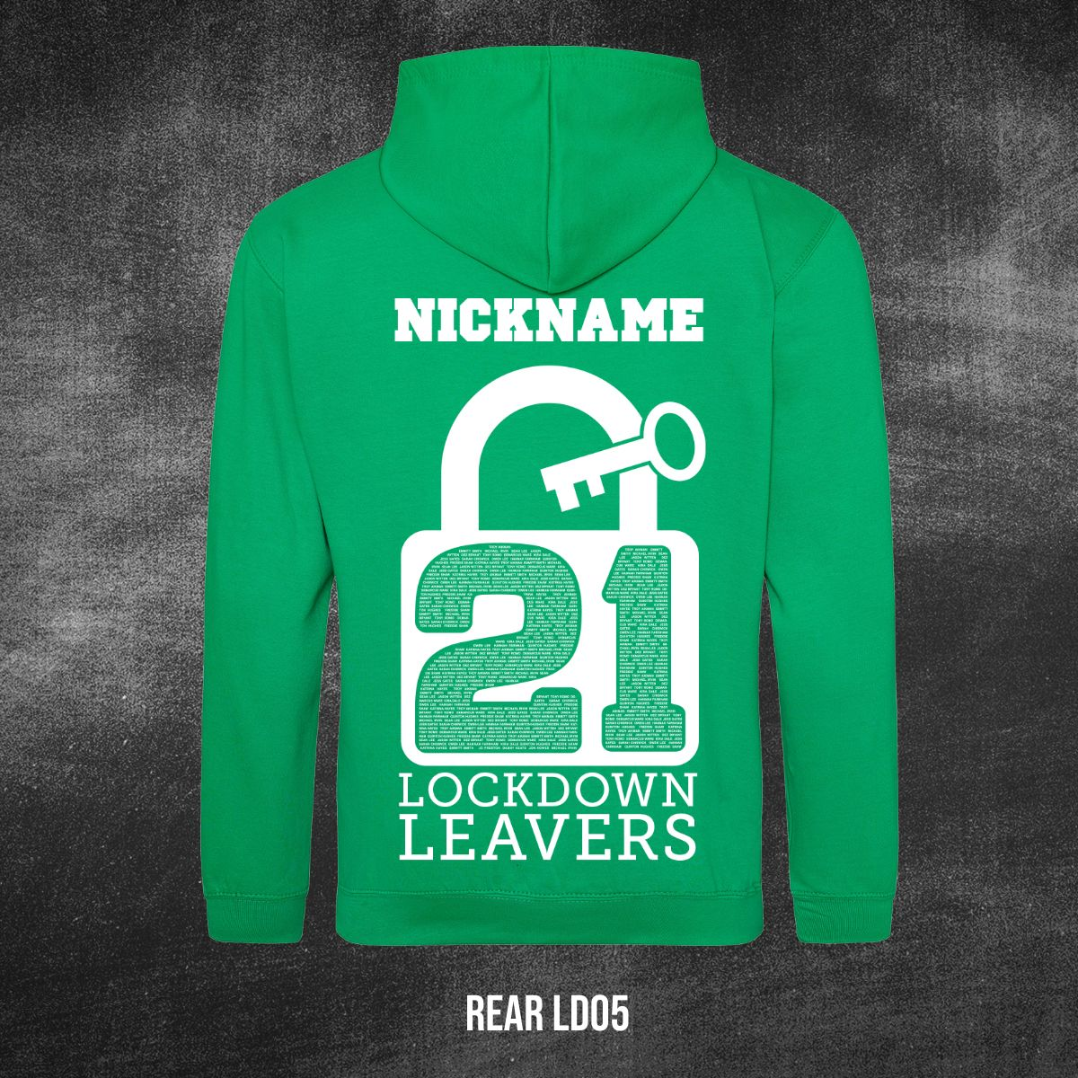 Lockdown Leavers Design REAR LD05