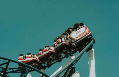 white and yellow roller coaster