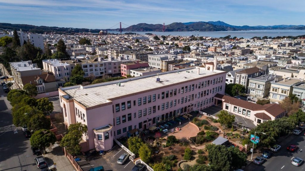 Sky view of Sherman Elementary, one of the top San Francisco elementary schools.