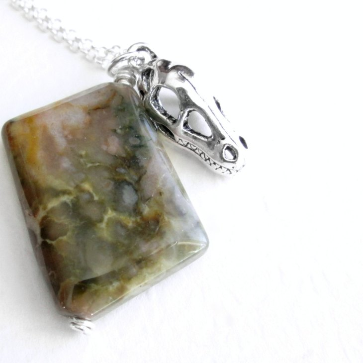 Coprolite necklace by Cindy Lou Who