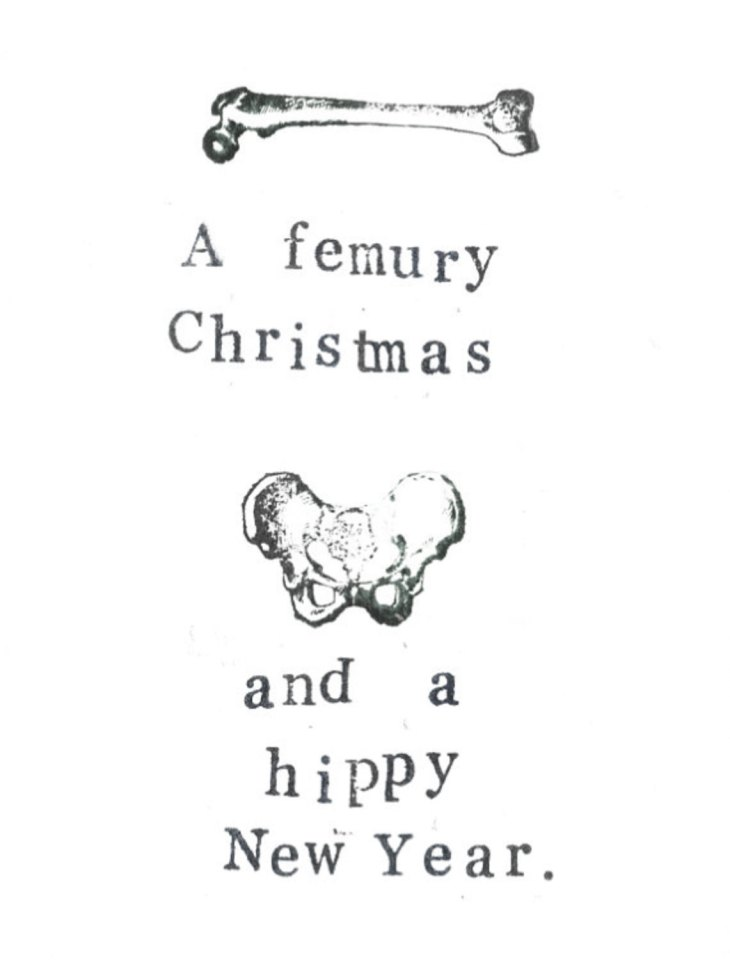 Punny anatomy gift card by Blue Specs Studio
