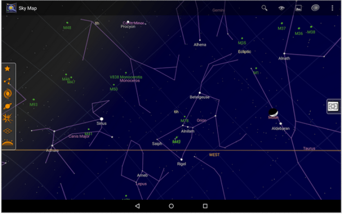 Google Skymap - screenshot