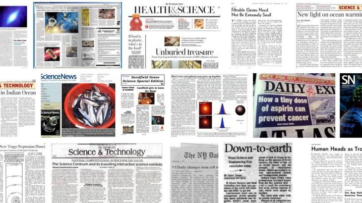 science newspaper headlines