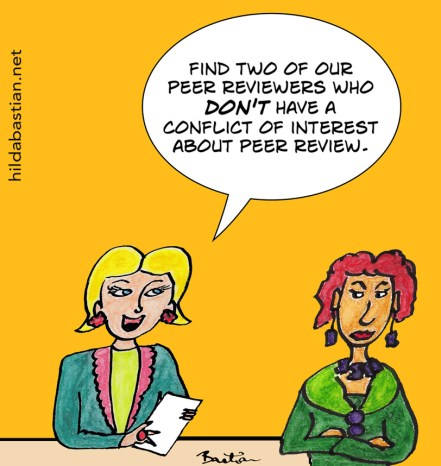 How can conflicts of interest be detected if referees and authors are anonymous? Image: Hilda Bastian, CC NC