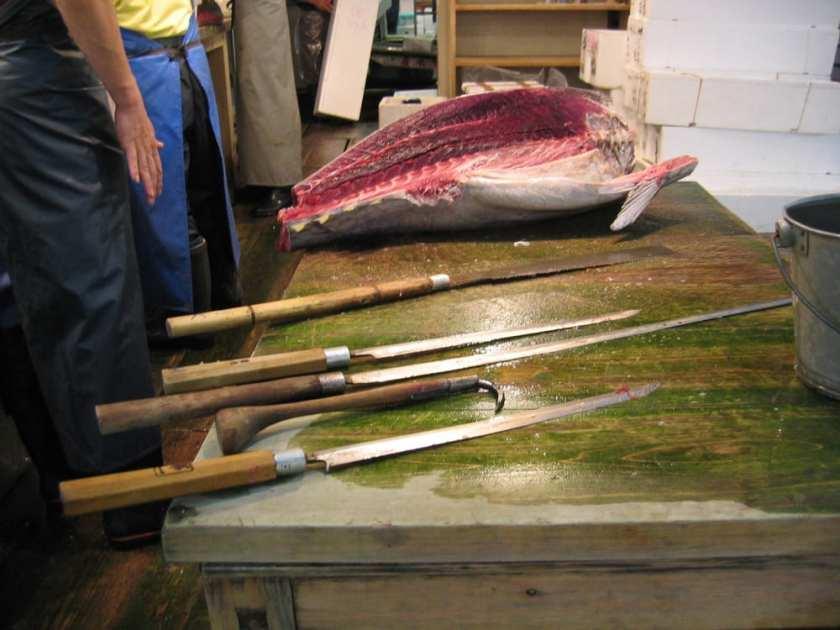 Cuchillos japoneses para el atún