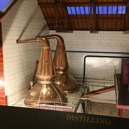 Replica distillery stills (Glenkinchie)