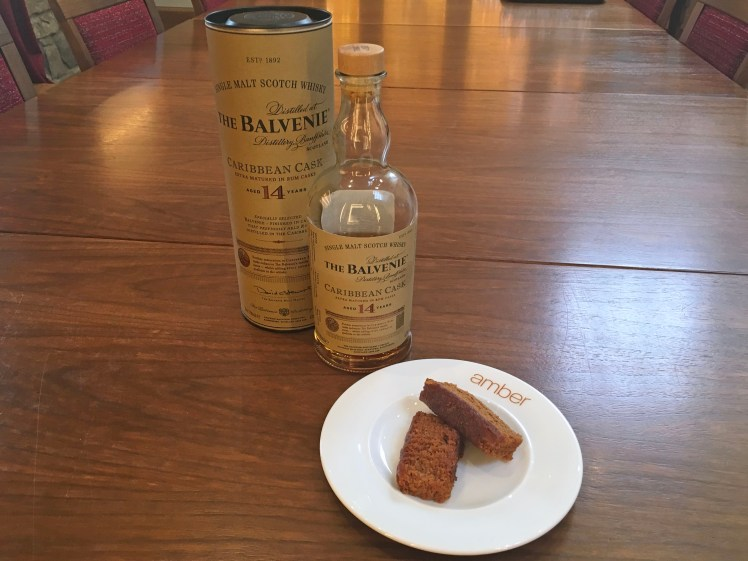 Balvenie 14s Carribbean cask finish makes it a great match for Jamaica Ginger Cake