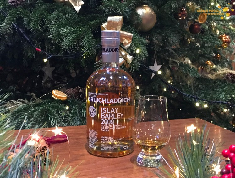 Bruichladdich's Islay Barley is the Islay whisky for December's Whiskies of the Month at the Scotch Whisky Experience