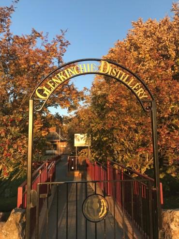 Glenkinchie Distillery entrance (credit and copyright: Glenkinchie visitor centre)