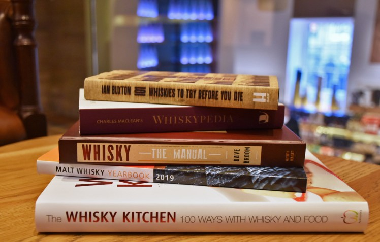 Whisky books available at the Scotch Whisky Experience shop