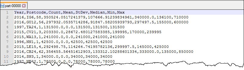 Output statistcs file