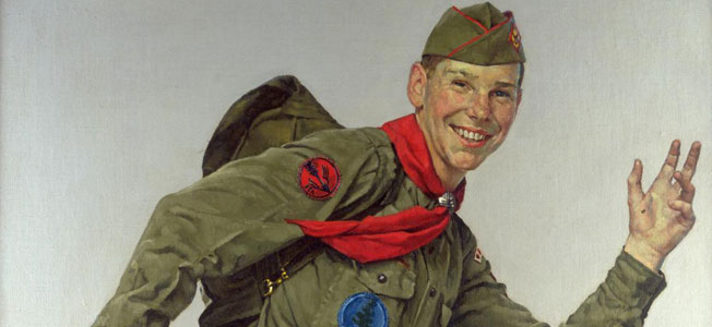 norman rockwell exhibit opens in texas bryan on scouting