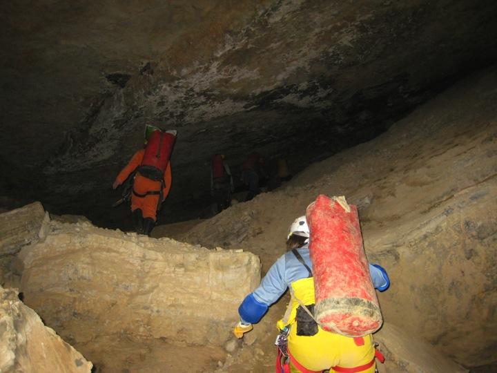 Hiking underground