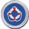 Lifesaving merit badge patch