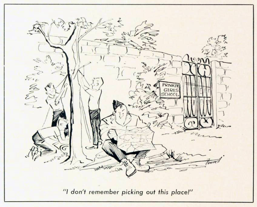 Cartoon-1961-Girls-School