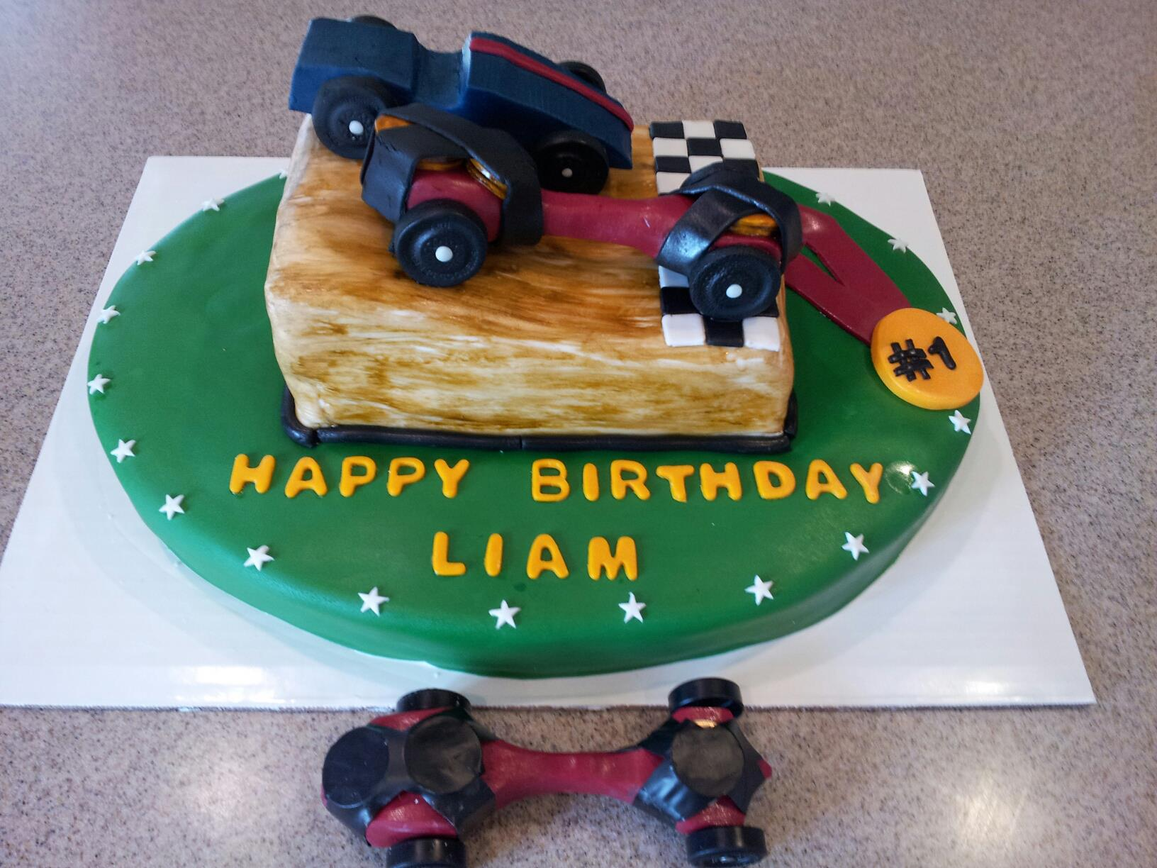 10 Liam's Car Cake (1)