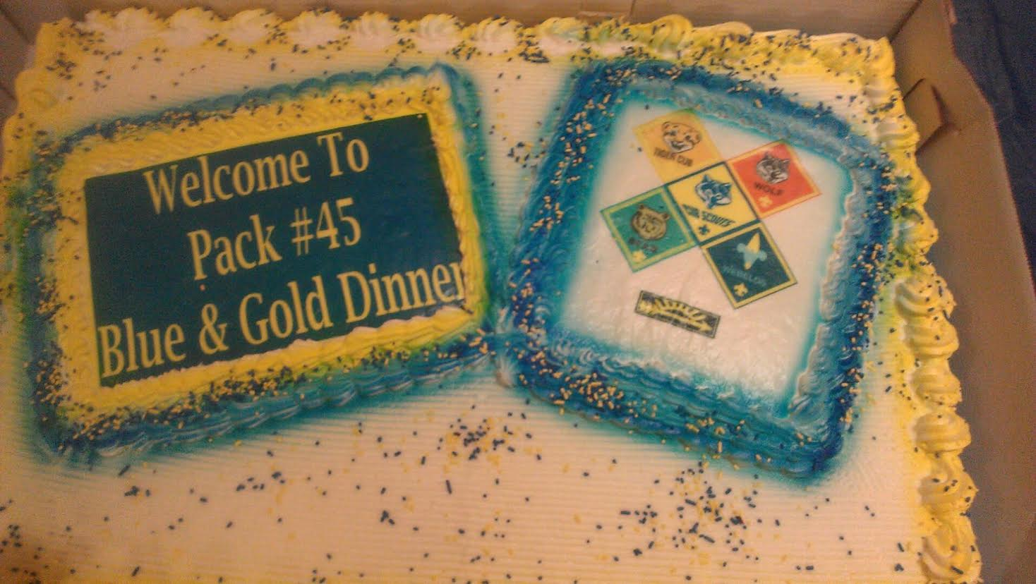 15 Blue and Gold Cakes