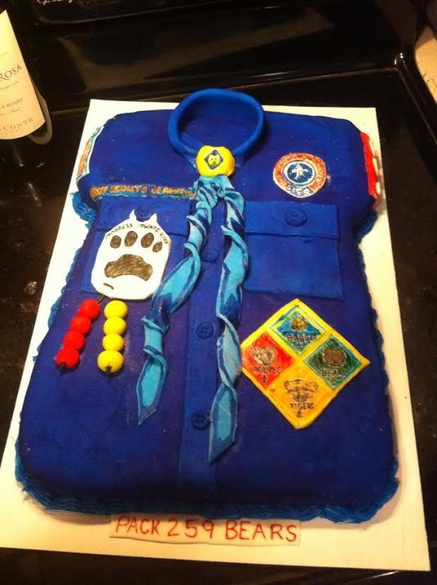 17 Cub Scout Shirt Cake