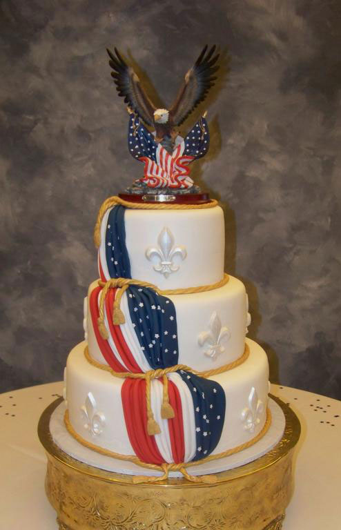 3 Eagle Scout Three Tiers Cake