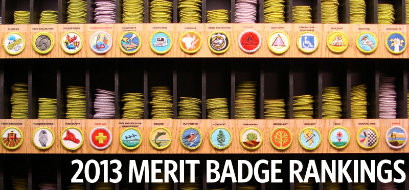 Here are the most- and least-popular merit badges of 2013 and of all time - Bryan on Scouting