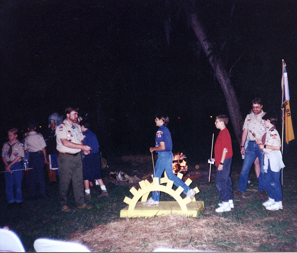 Austin crosses over into Boy Scouting.