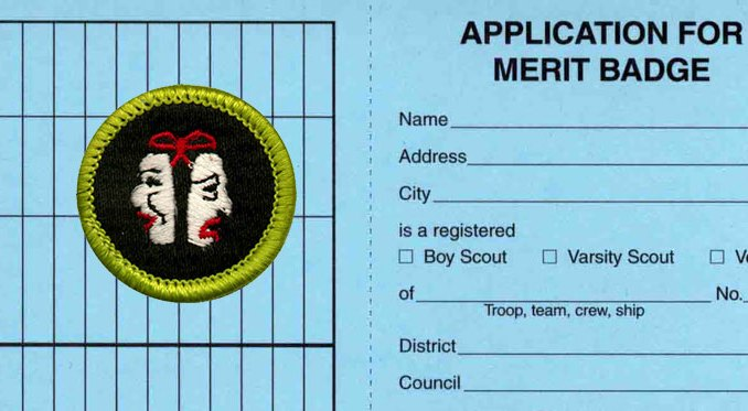 Merit badge work done before a blue card is issued