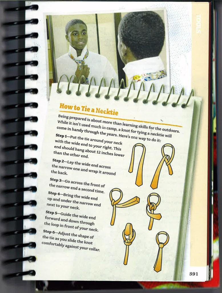 How-to-tie-a-Necktie---Scout-Handbook