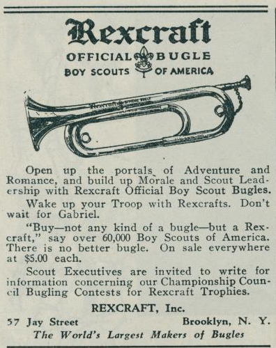 Scout Bugle on stand
