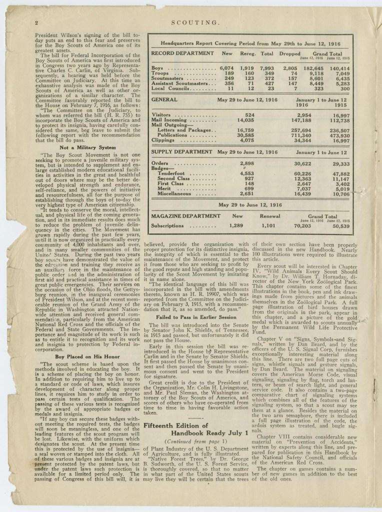 Scouting magazine June 15 1916 - 2