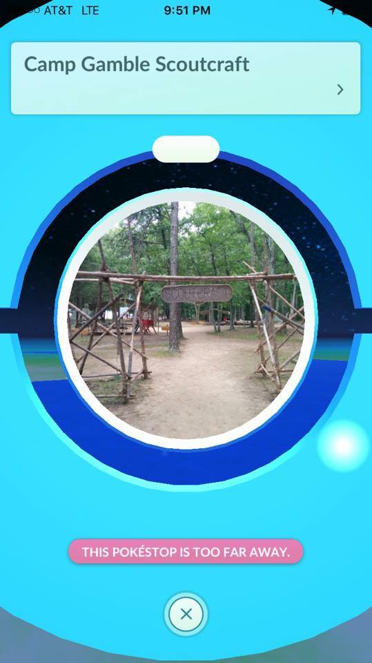 Camp Gamble PokeStop