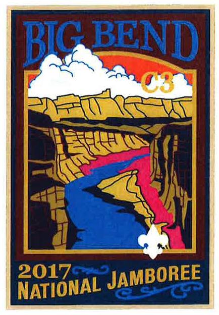 Boy Scout Big Bend 2017 National Jamboree Subcamp Patch NEW C3 BSA Sub Camp