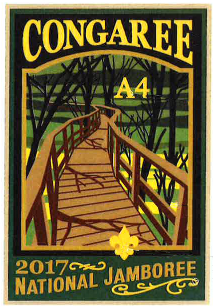 Congaree 2017 Jamboree subcamp patch