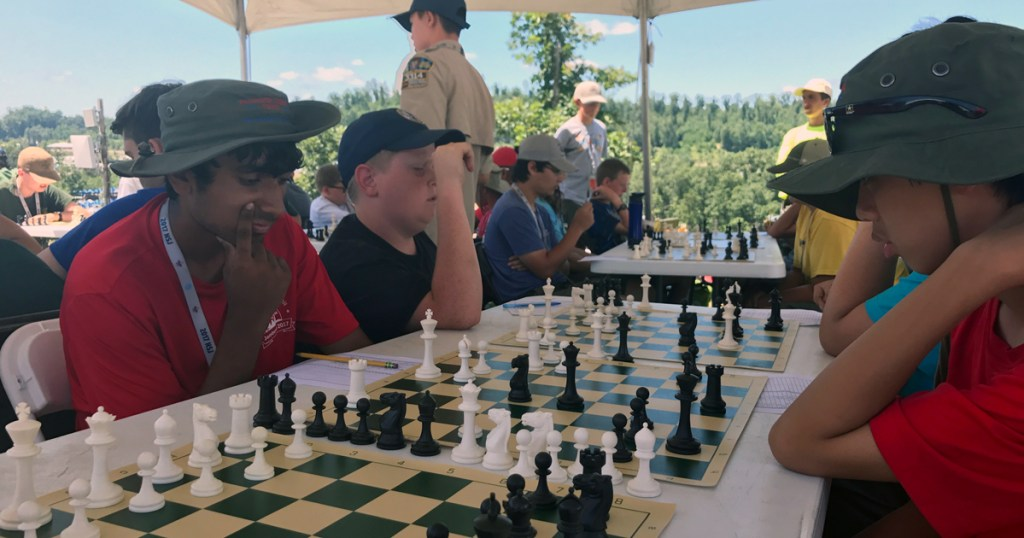 Chess merit badge tent making all the right moves at 2017