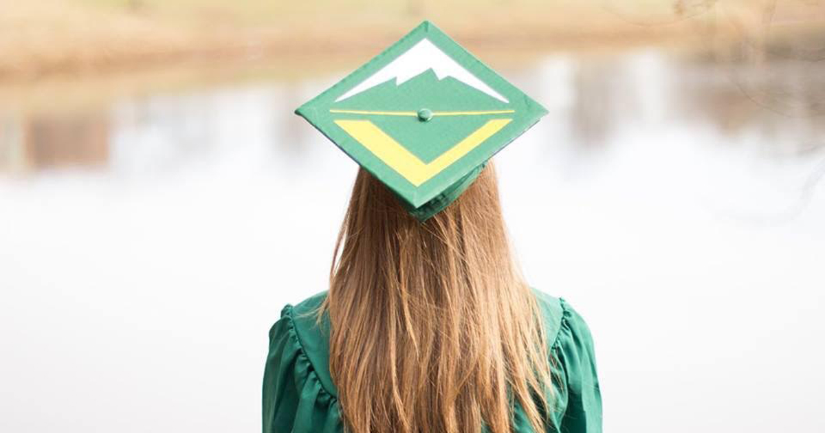When this Venturer graduated from college, she repped Venturing on her cap