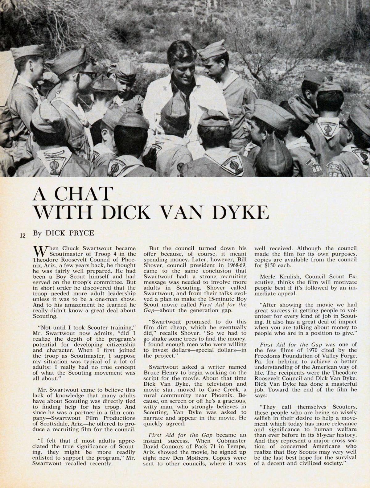 Dick Van Dyke Scouting September 1971 – 1